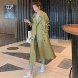 Army green trench coat 💚💚💚