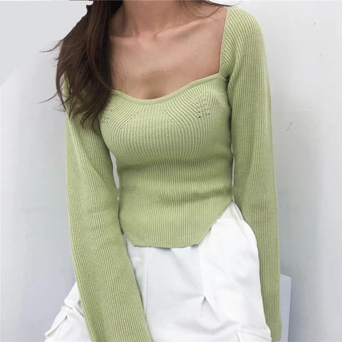 Long sleeve spring knit