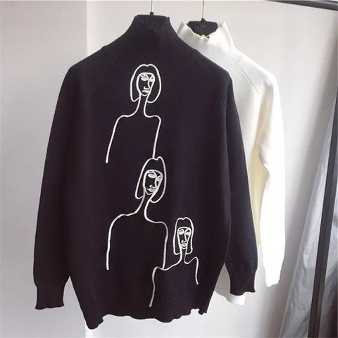 3 amigos -Turtle neck monochrome jumper