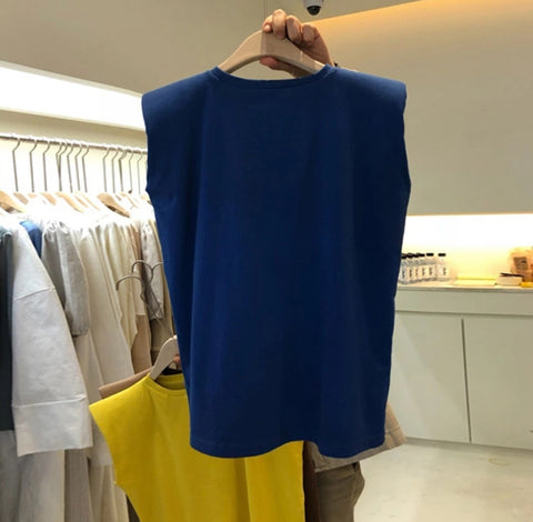 Padded T-shirt (Blue)