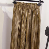 FEELING STUDIO 54? - GOLD METTALIC PLEATED PANTS