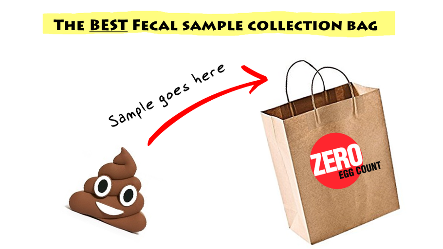 How NOT to get poop on your hands when collecting a fecal sample.