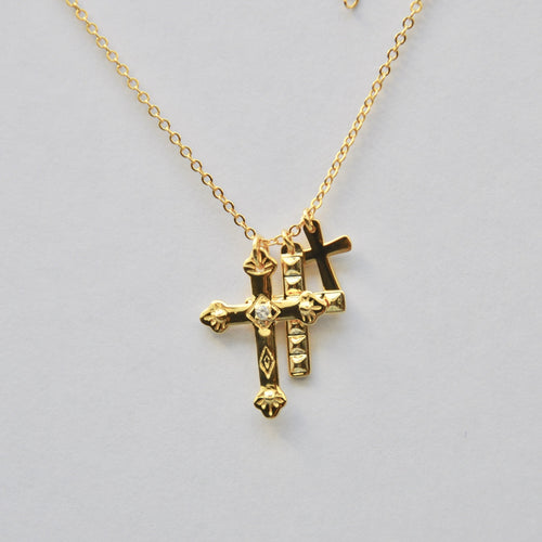 Collar 3 Cruces Gold