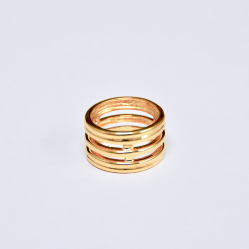 Anillo Five RIngs Gold