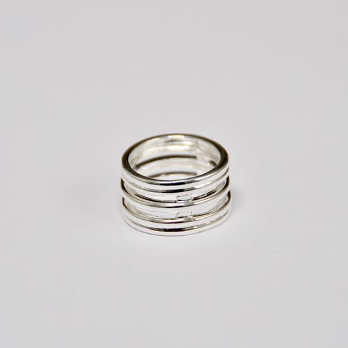 Anillo Five Rings Silver