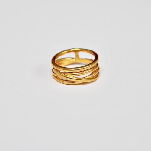 Anillo Four Rings Gold