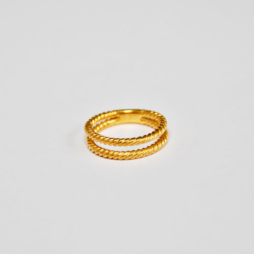 Anillo Doble Trenza Gold