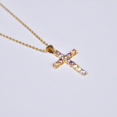 Collar Cruz Circonitas Gold