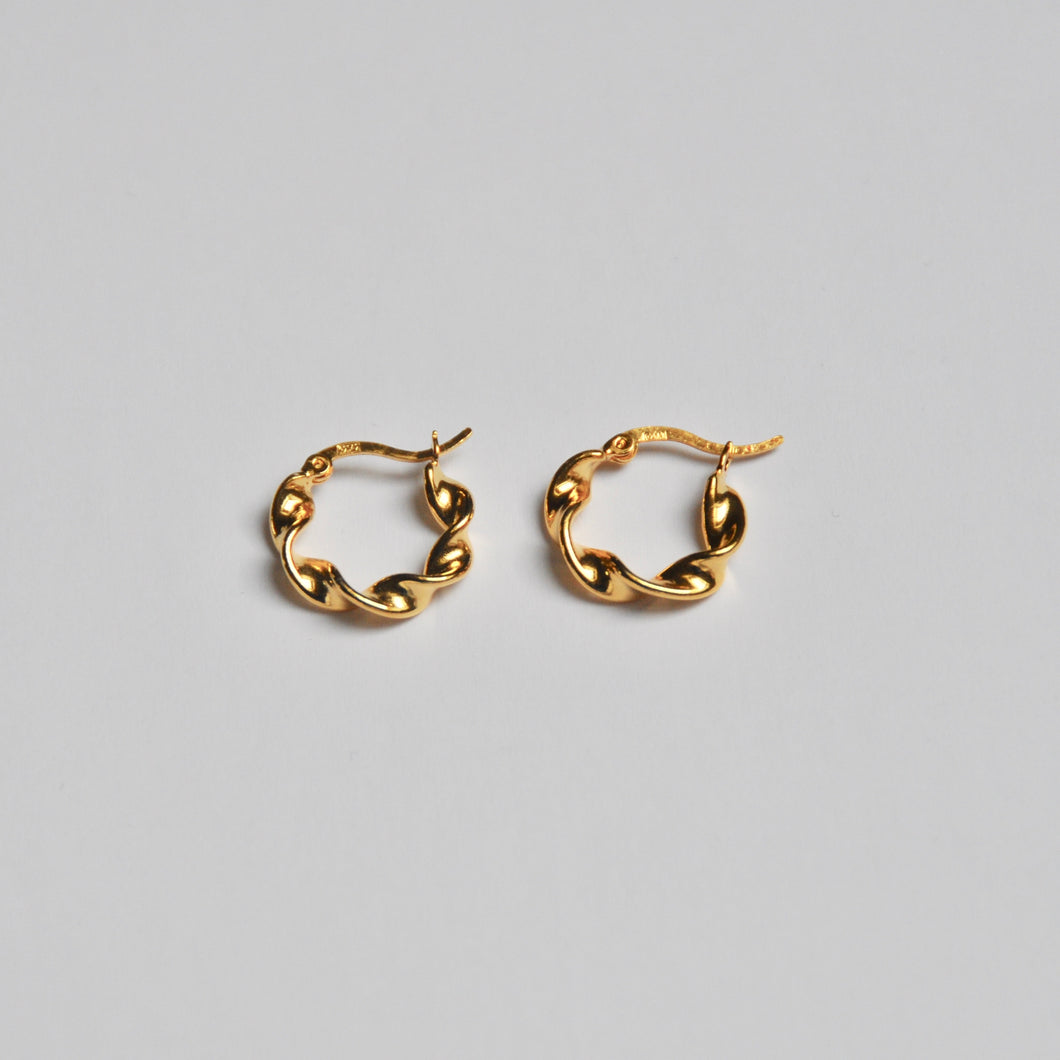 Mini Vintage Hoops Gold