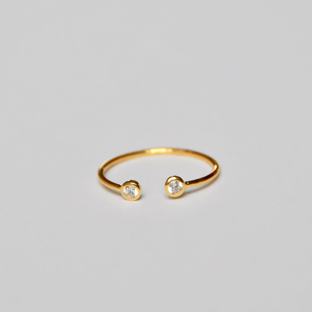 Anillo Mini White Circon Gold
