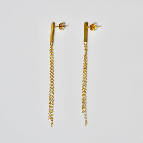 Pendientes Long Chain Gold