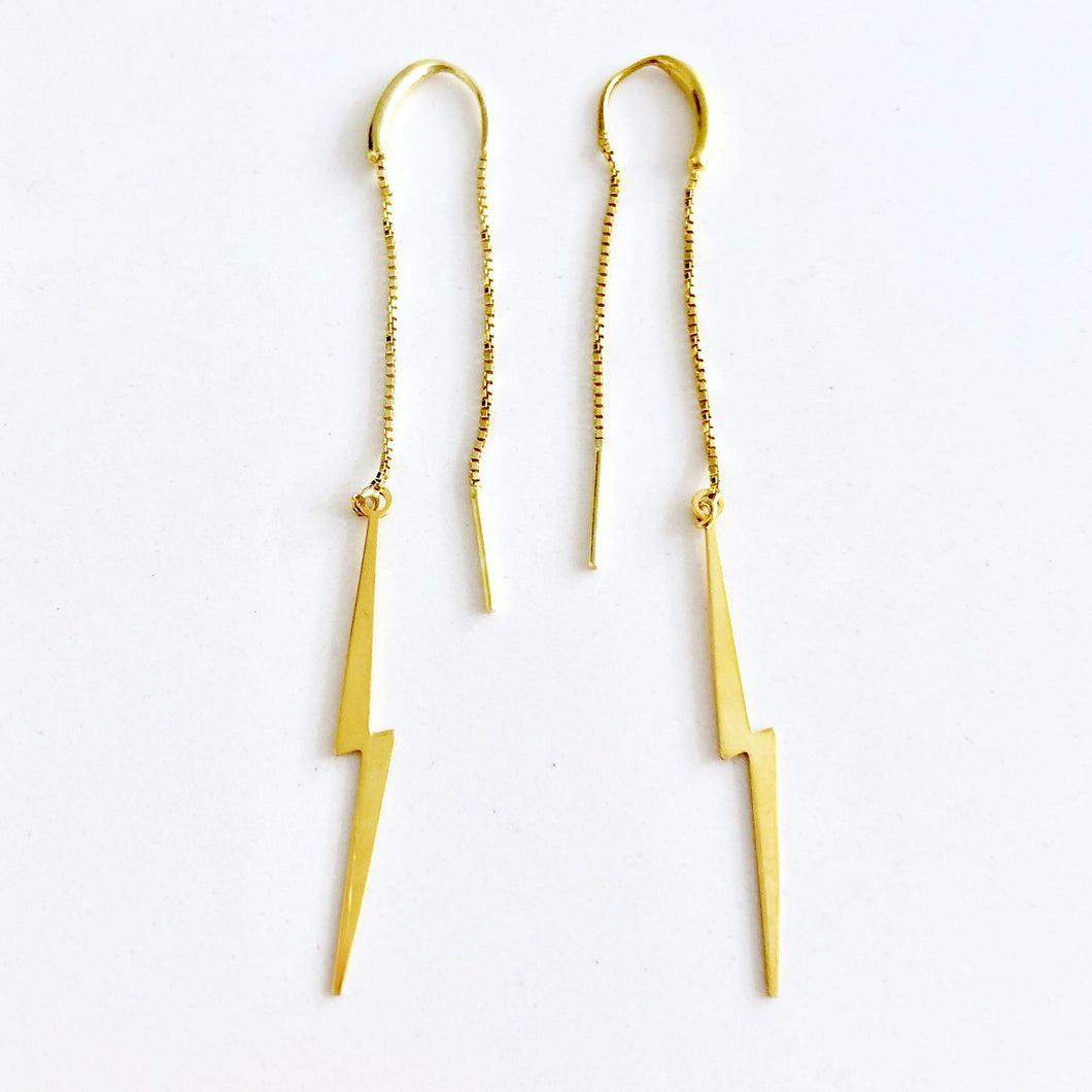 Pendientes Long Rayo Gold