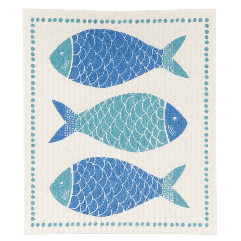 Blue Fish Swedish Dishcloth