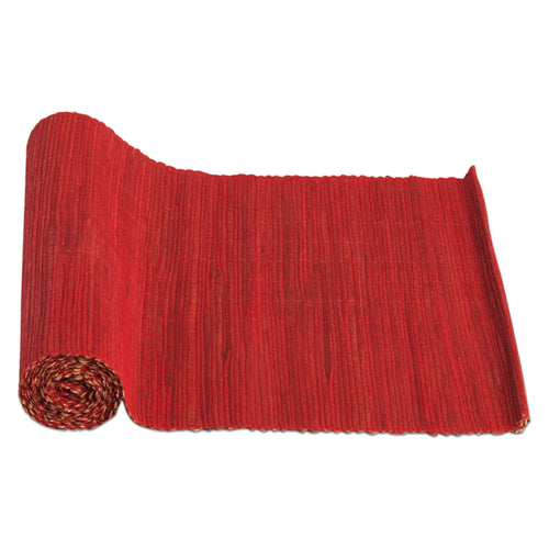 Natural Hyacinth Red Table Runner