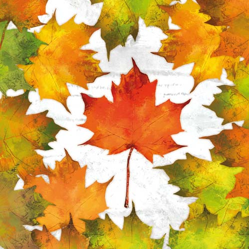 Autumn Woodland Leaves Paper Lunch Napkins