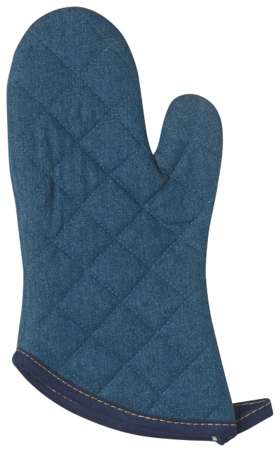 Denim Blue Quilted Oven Mitt