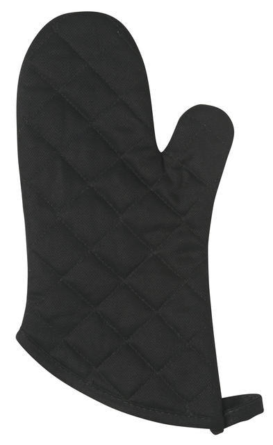Heavy Black Cotton Oven Mitt