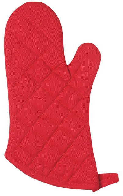 Heavy Cotton Red Oven Mitt