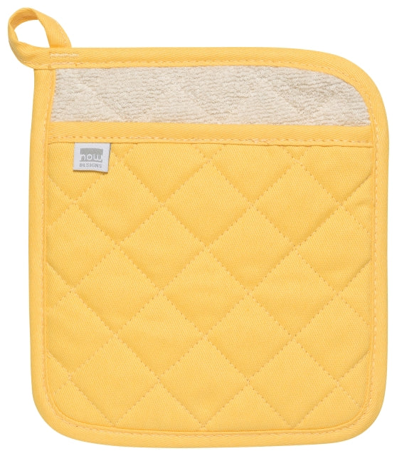 Heavy Duty Cotton Lemon Yellow Potholder