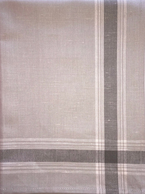 Russian Gray Striped Linen Mix Dish Towel