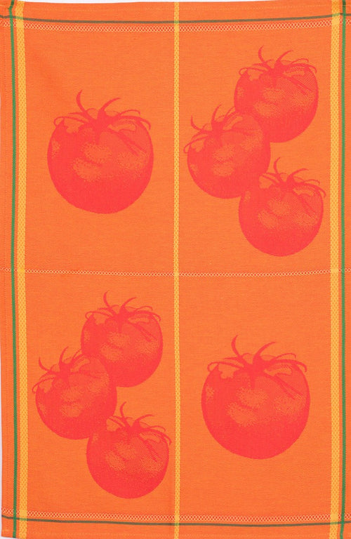 Red Orange Tomatoes Cotton Jacquard Dish Towel