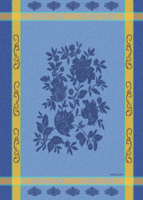 Provence Blue Yellow Jacquard Dish Towel