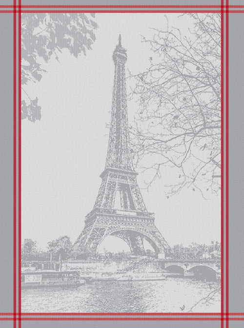French Eiffel Tower Cotton Jacquard Kitchen Towel