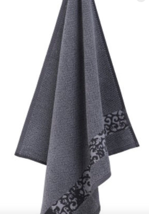 Gray Terry Cloth Kitchen Towel