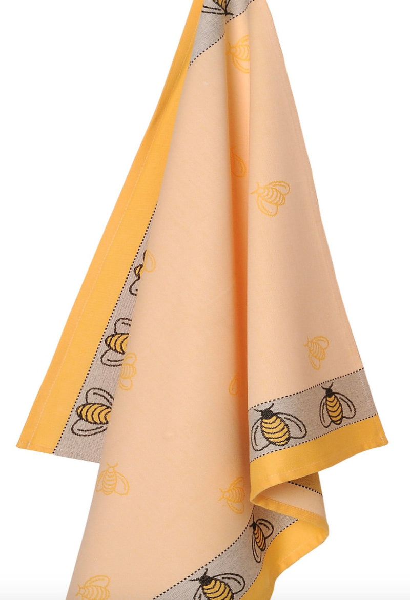 Cotton Jacquard Bumble Bee Dish Towel
