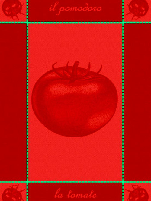 Red Single Tomato Jaquard Towel