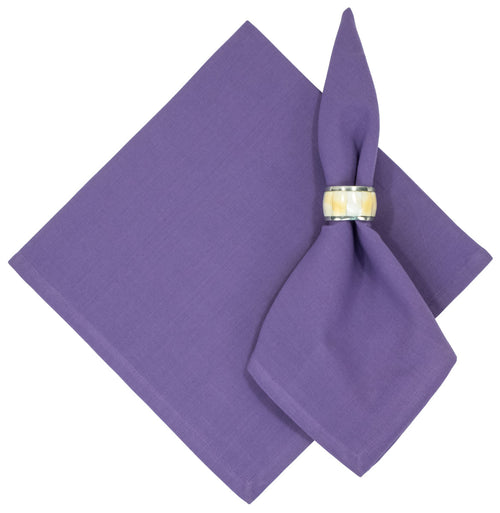 Solid Amethyst Cotton Napkins