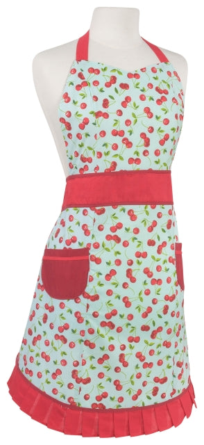 Cherries Pinafore Cotton Apron