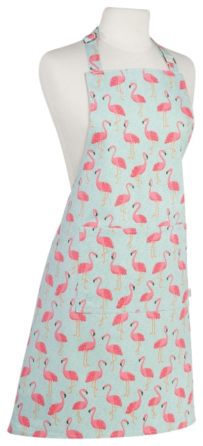 Cotton Pink Flamingos Apron