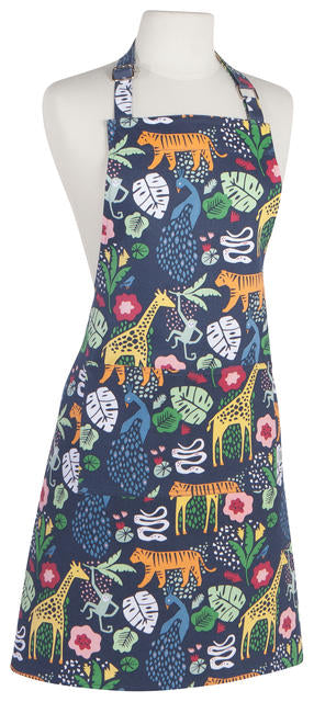 Wild Jungle Animals Heavy Cotton Apron