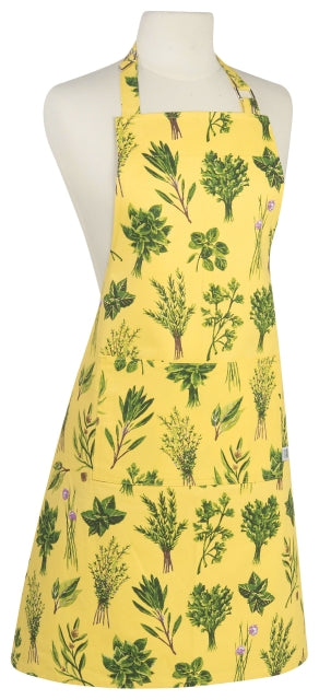 Yellow and Green Herbs Apron