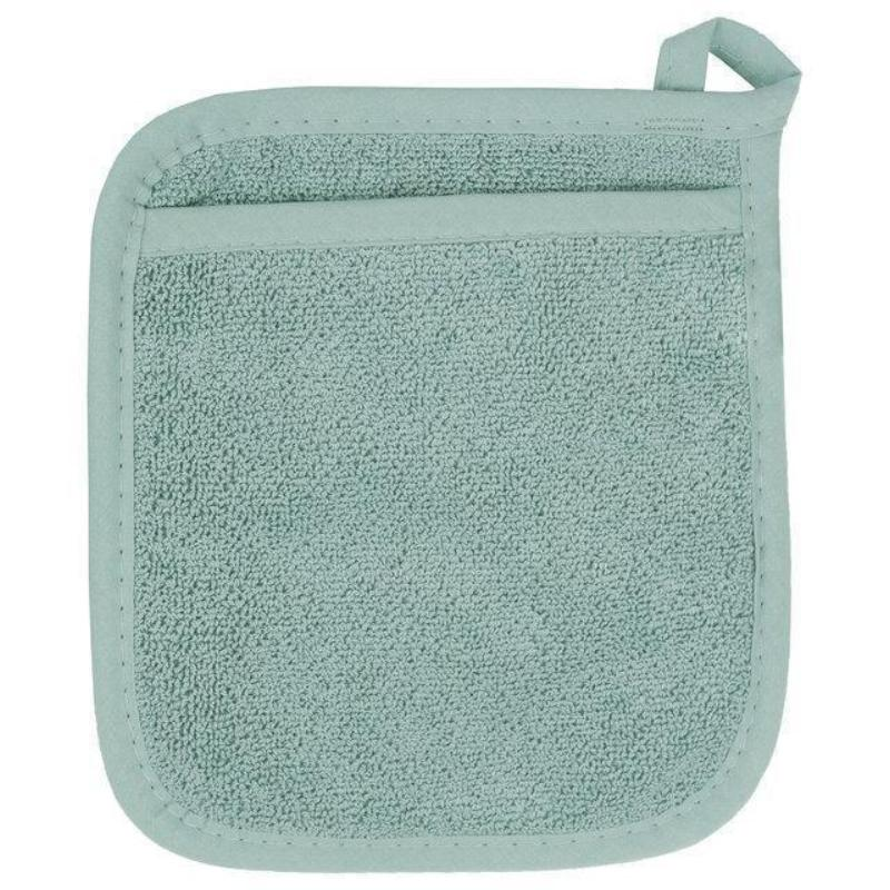 Aqua Terry Pocket Potholder