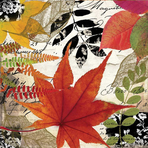Autumn Collage Lunch Napkin Front