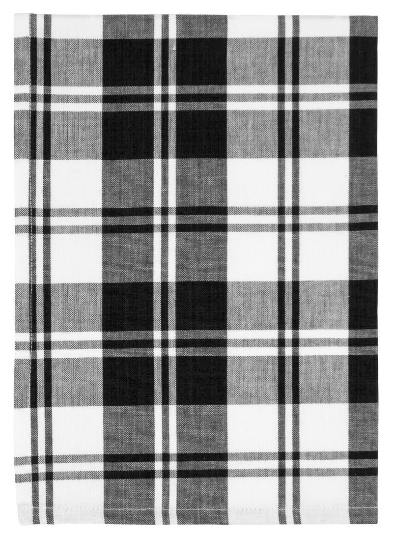 Black Windowpane Plaid Towel