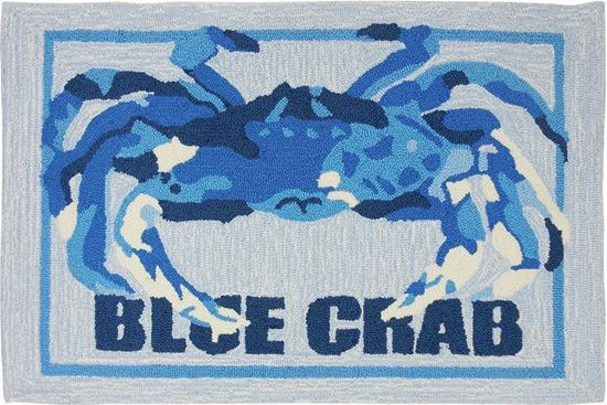 Blue Crab Kitchen Rug