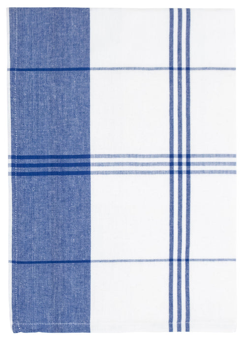 Blue White Windowpane Towel