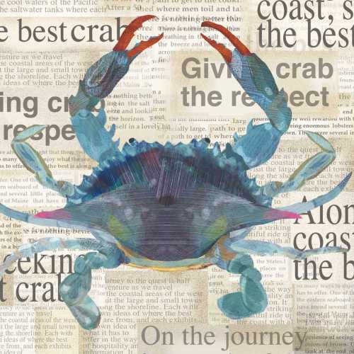 Blue Crab Paper Cocktail Napkins