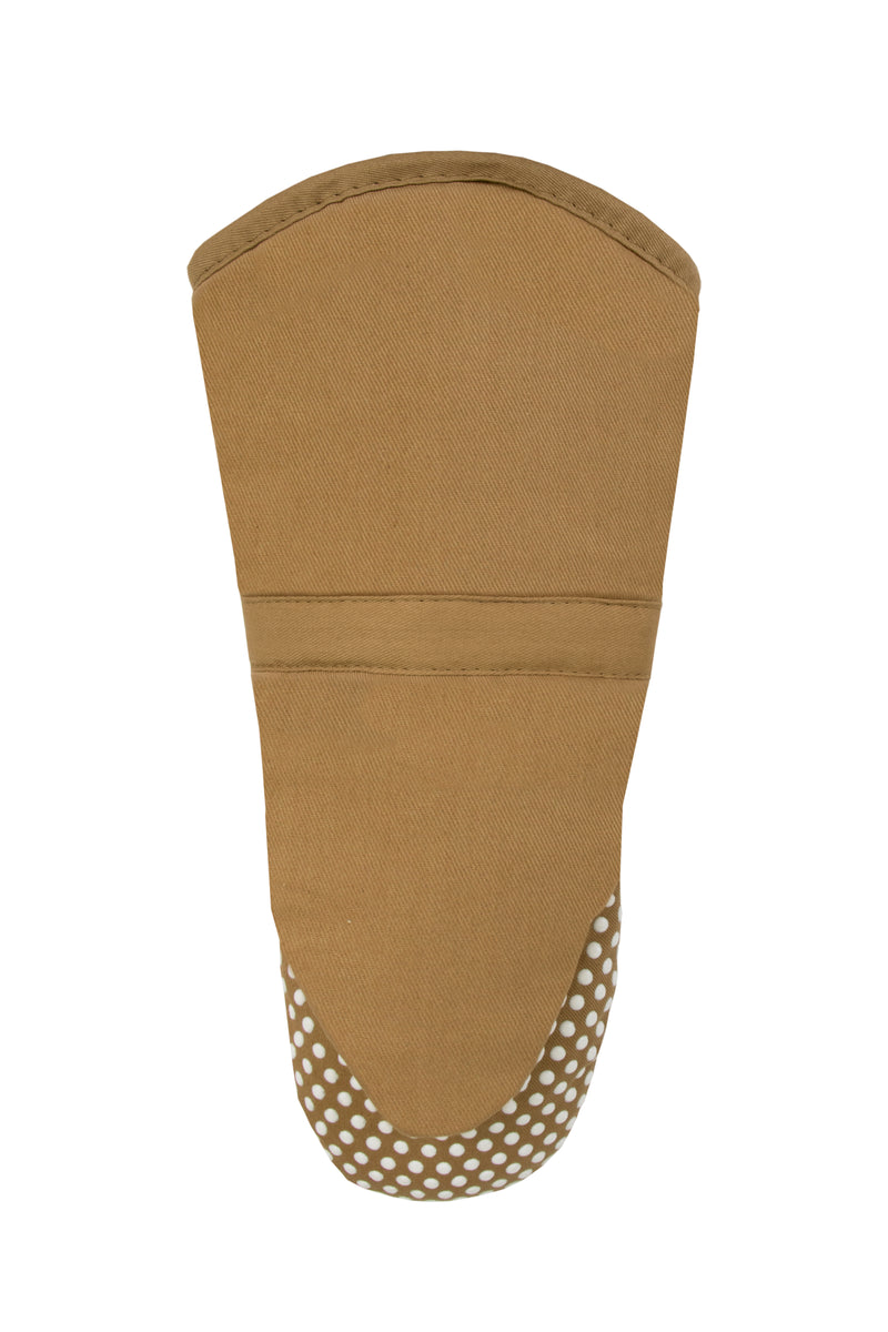 Brown Oven Mitt Silicone Grip