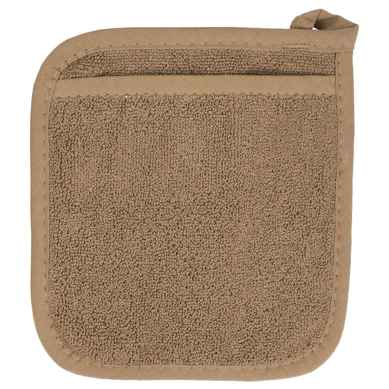 Brown Terrycloth Pocket Potholder
