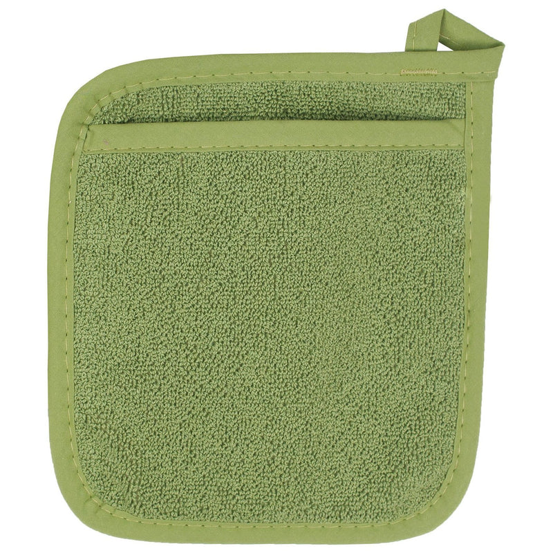 Green Terrycloth Pocket Potholder
