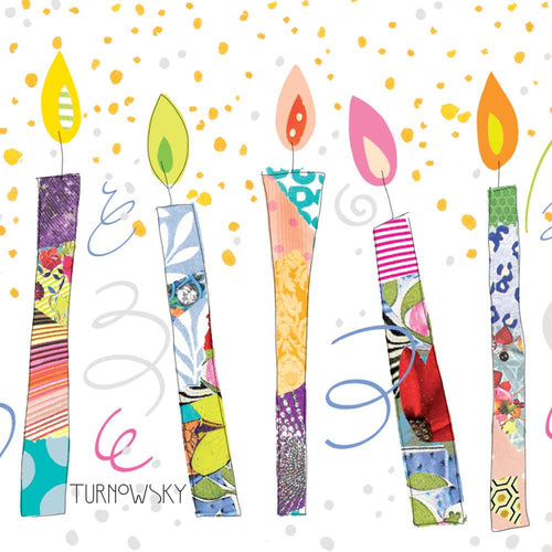 Birthday Candles Paper Lunch Napkins