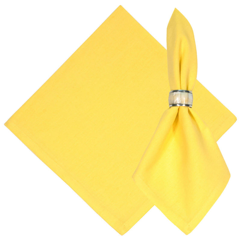 Daffoldil Yellow Solid Cotton Napkin