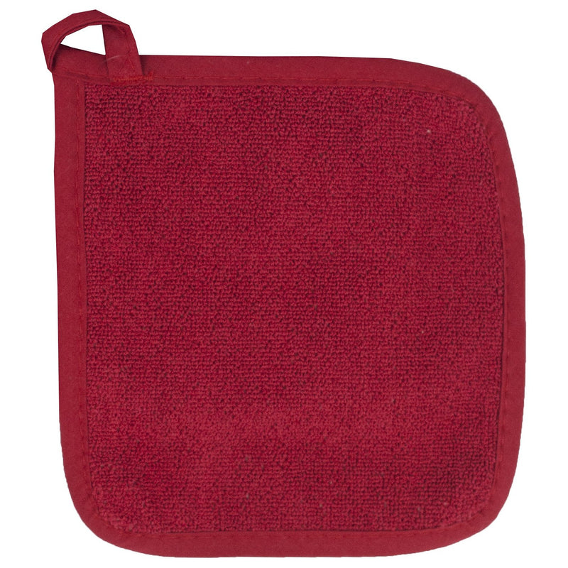 Deep Red Terrycloth Potholder