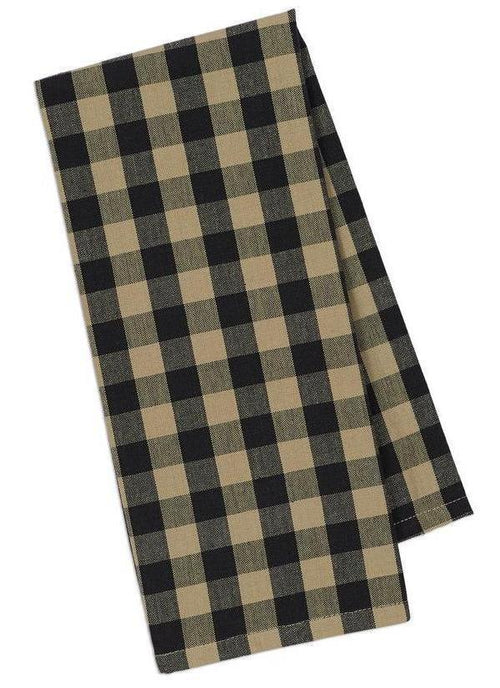 Black and Tan Check Dish Towel