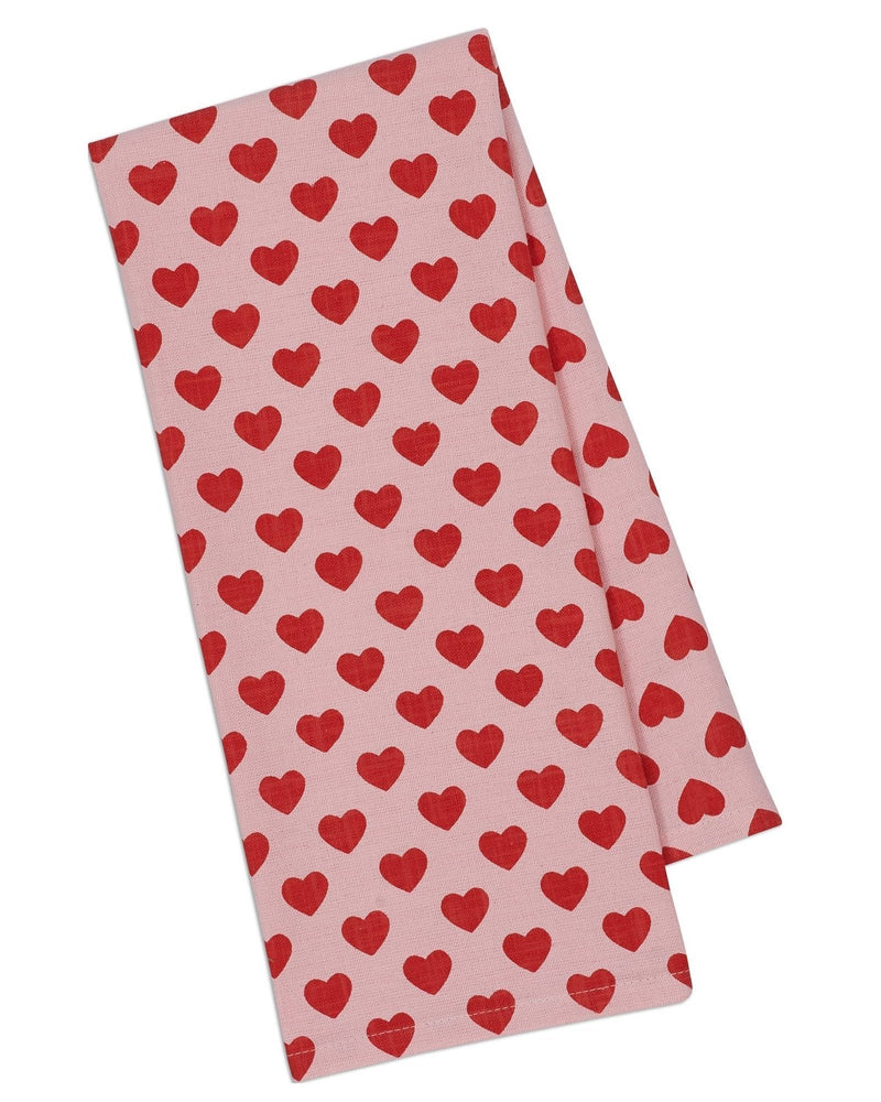 Hearts Dish Towel