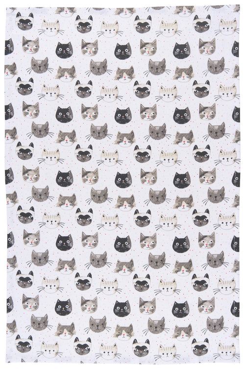 Cats Meow Cotton Dish Towel